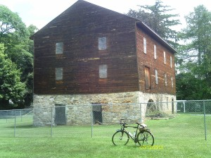 This old mill hasn't been restored, but at least they're keeping it from being vandalized.