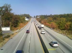 Crossing I83 on Sheep Bridge Road.